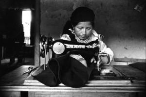 Seamstress, Otavalo, Ecuador, Quichua Indian