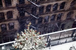 Snowy Christmas in New York